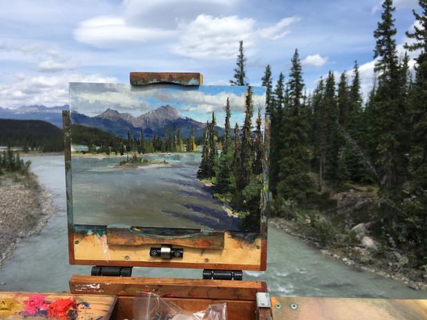 Painting the Athabaska River