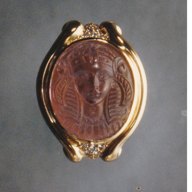 Carved Pink Tourmaline Ring
