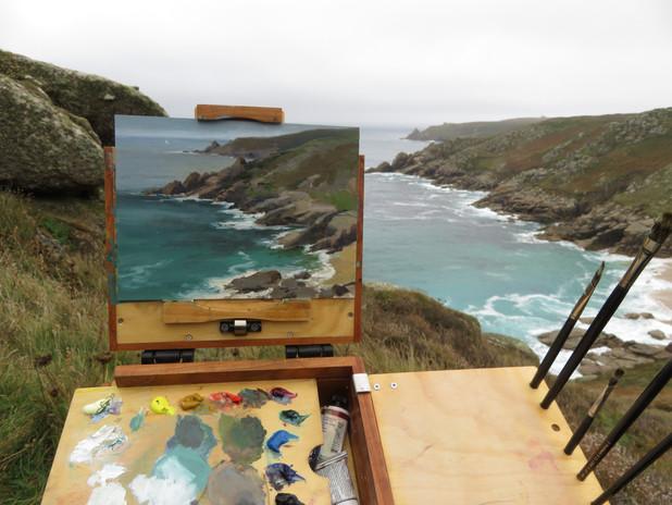 Painting at Penzance, Cornwall