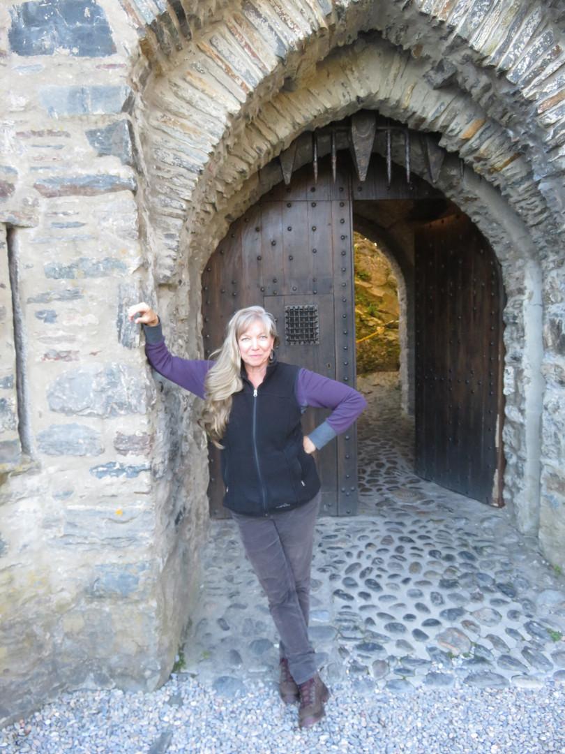 Jan Jewell at Eileen Donan Castle, Scotl