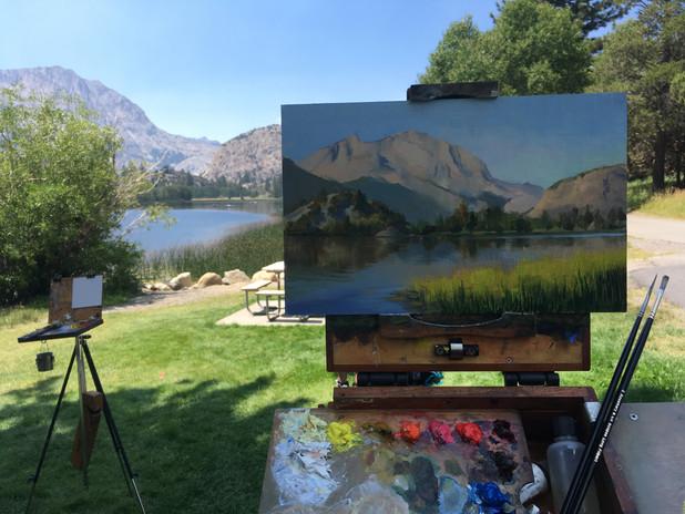 Painting at Gull Lake