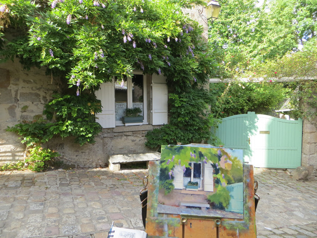Painting in Dinan