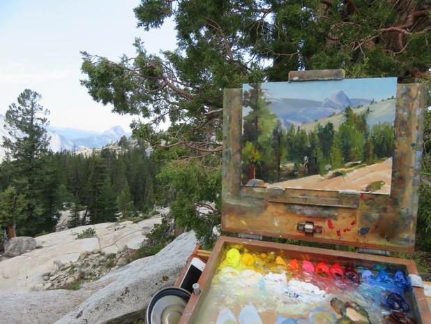 Jan Jewell Painting in Yosemite