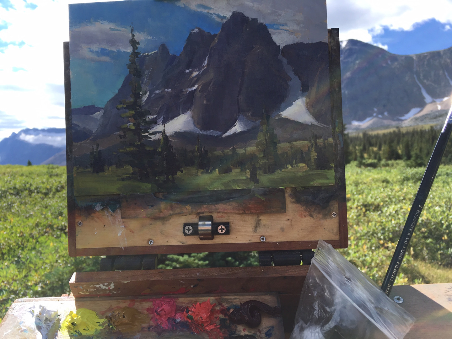 Painting in the Tonquin Valley
