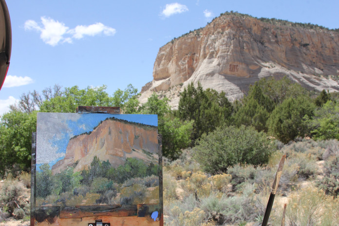 Jan Jewell painting at Grand Staircase,