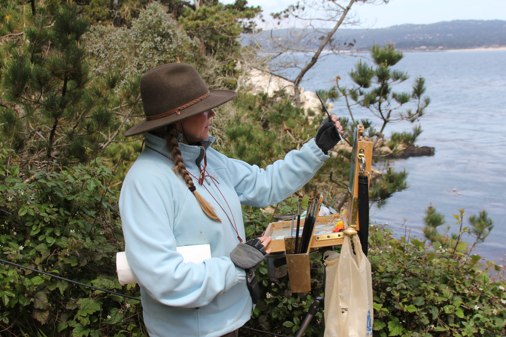 Jan Jewell painting at Point Lobos