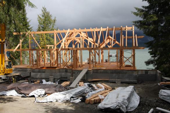 Timberframe Under Way