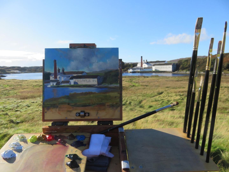 Jan Jewell Painting the Lagavulin Distil