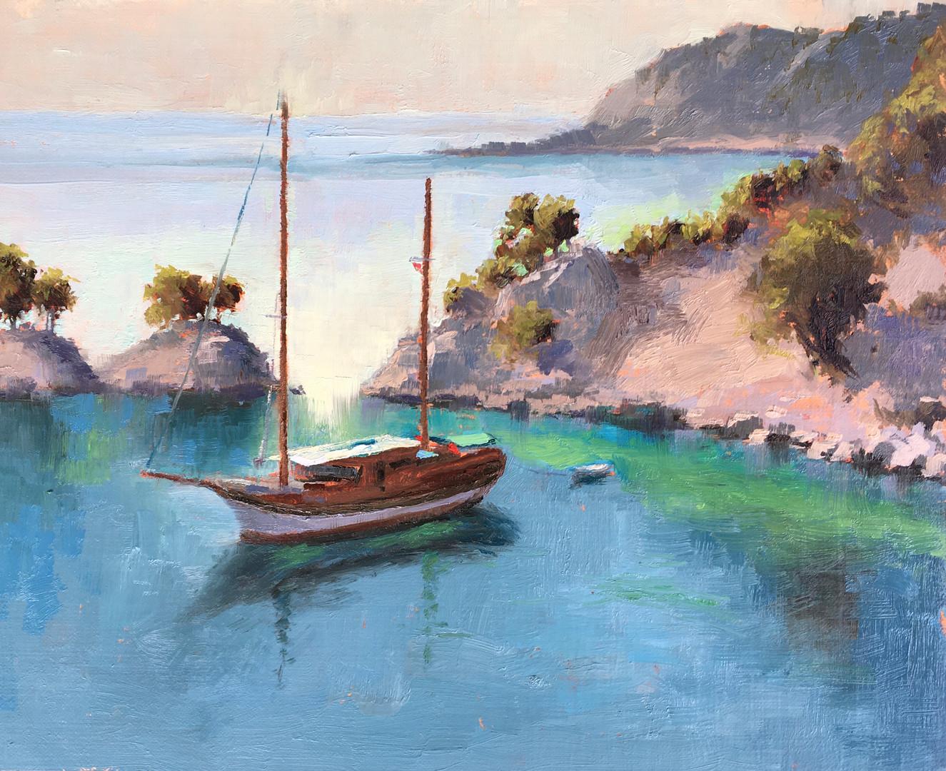 Gulet in the Aegean Sea