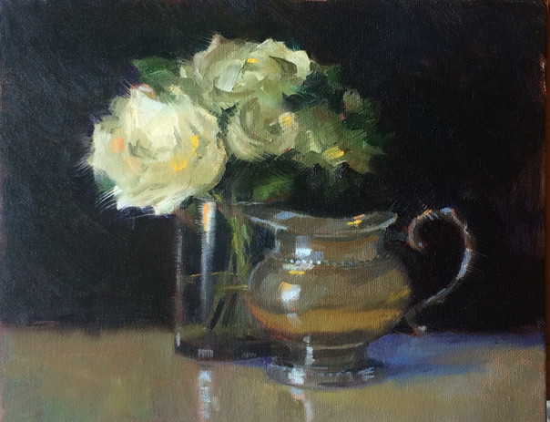 White Roses and Pewter