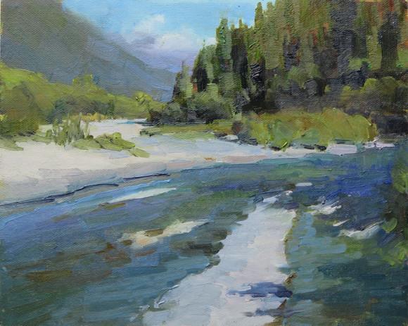 Upper Quinault from Bridge