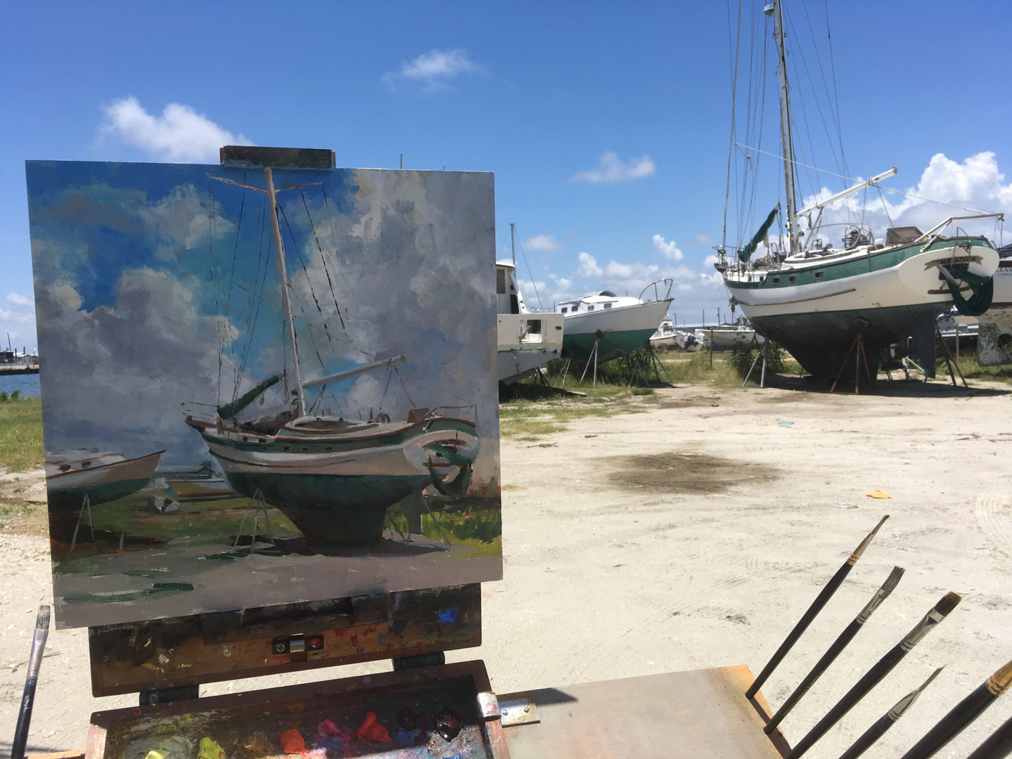 Painting at Dry Dock