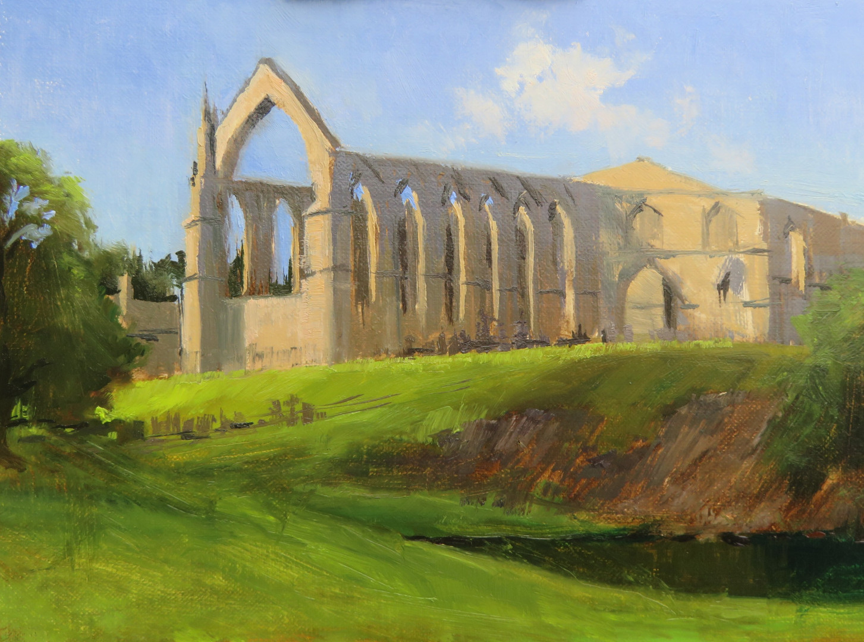 Jan Jewell Painting Bolton Abby, Yorkshi