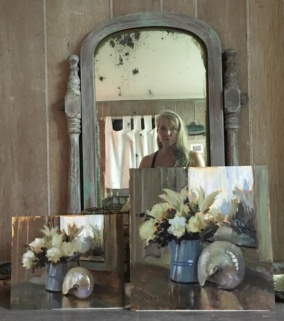 Jan Jewell with still life