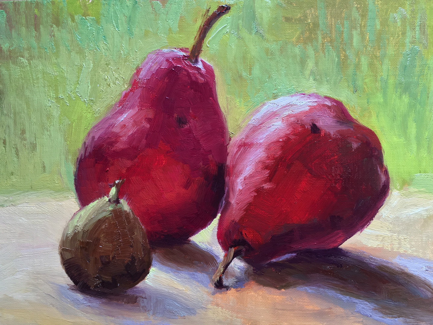 Red Pears and a Fig