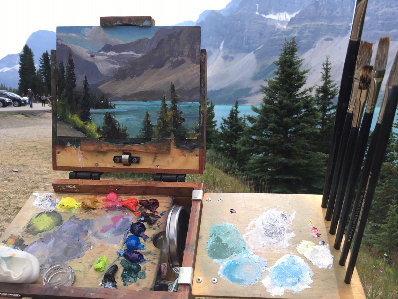 Painting at Bow Lake