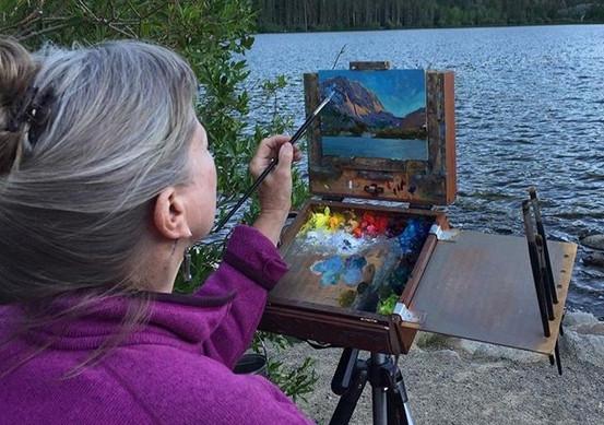 Jan Jewell painting at Gull Lake.jpg