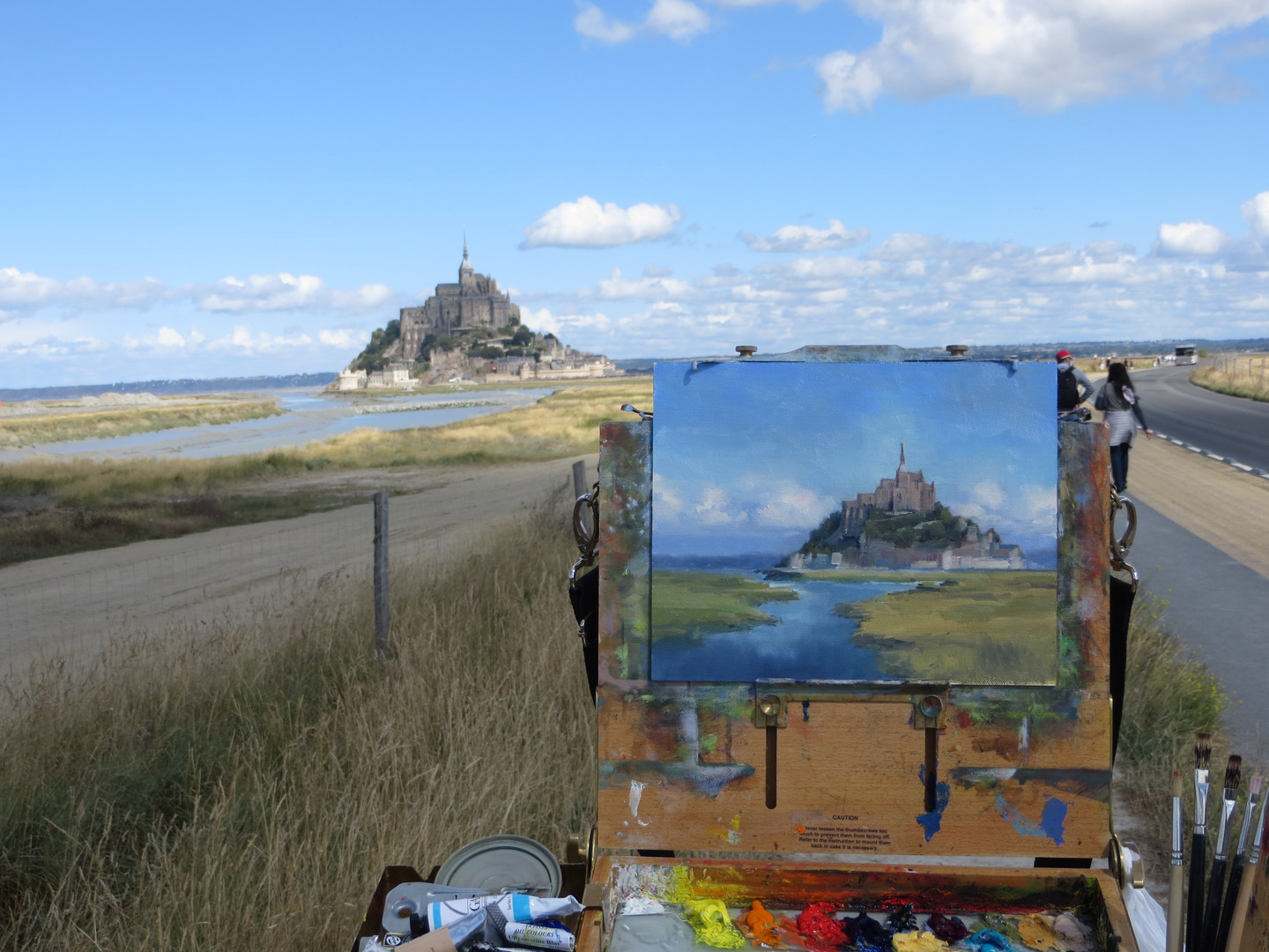 Jan Jewell painting Mont St. Michele, Fr