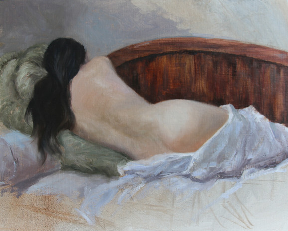 0229 Reclining Nude 03-25-12_Hanging in