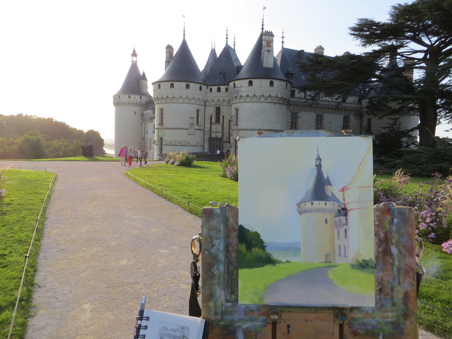 Painting in the Loire Valley, France