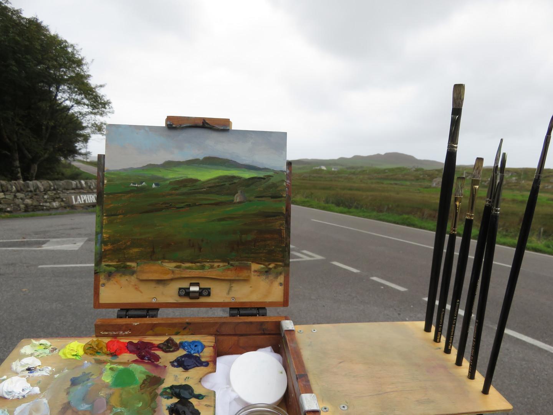 Painting at Laphroaig Distillery