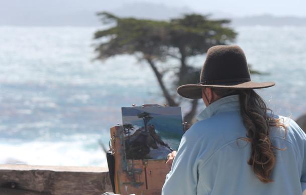 Jan Jewell painting in Carmel
