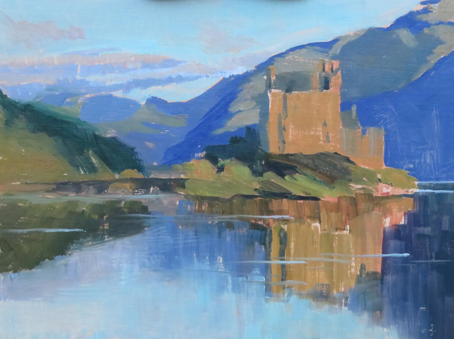 Eilean Donan Castle at Sunset, Scotland