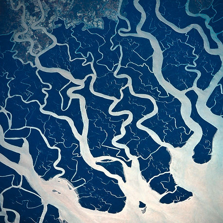 a-satellite-view-of-rivers-and-stockbyte