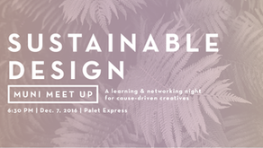 MUNI Meetup MNL: Sustainable Design on Dec. 7 at Palet Express