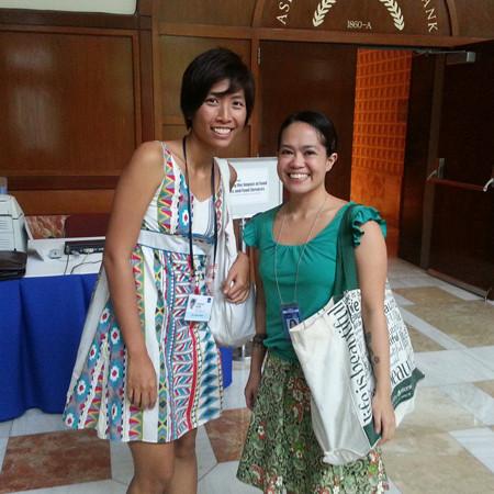 Muni PH's Jen Horn and ADB's Maria Cleto at ADB No Impact Week