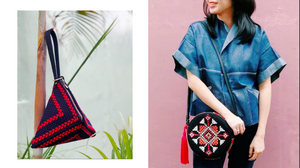 "Eco-ethical bags and featured ""puso"" design from Rags2Riches"