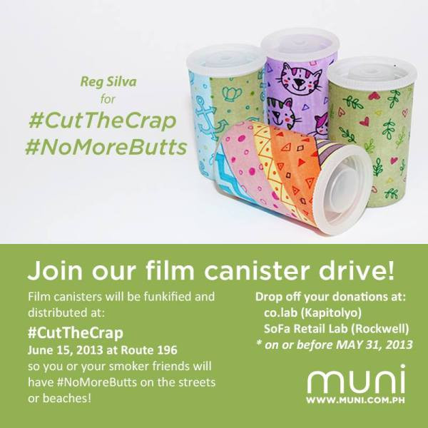 #CutTheCrap canisters illustrated by Reg Silva