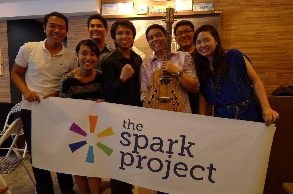 The Spark Project team with pilot project Lagon Guitars