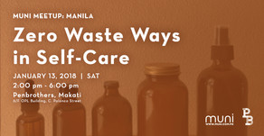 MUNI Meetup: Zero Waste Ways in Self-Care on Jan. 13
