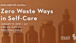 MUNI Meetup: Zero Waste Ways in Self-Care on Jan. 13