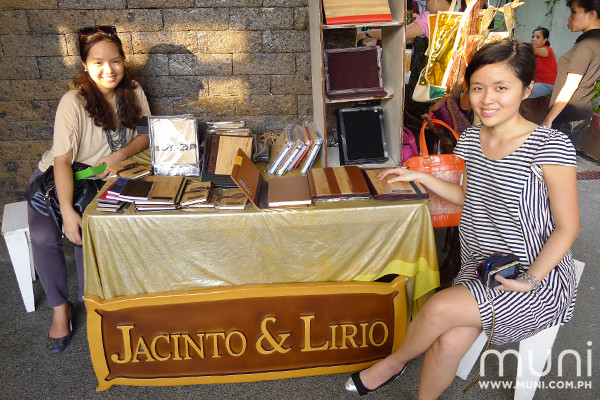 Noreen Bautista & Anne Krystle Mariposa of Jacinto & Lirio with their plant-based leather journals, iPad covers and bags