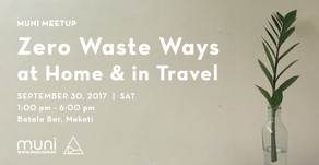 MUNI Meetup: Zero Waste Ways at Home and in Travel on Sept. 30 at Batala Bar