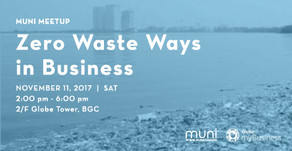 MUNI Meetup: Zero Waste Ways in Business on Nov. 11 at BGC
