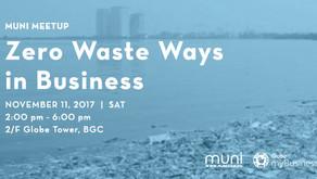 MUNI Meetup: Zero Waste Ways in Business on Nov. 11 at BGC