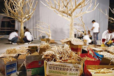 Chopstick forest