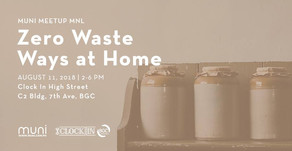 MUNI Meetup MNL on Zero Waste Ways at Home on August 11, 2018