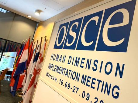 ODIHR Conference, Warsaw, September 2019