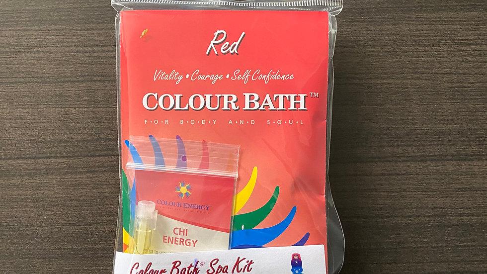 Red Colour Bath Spa Kit