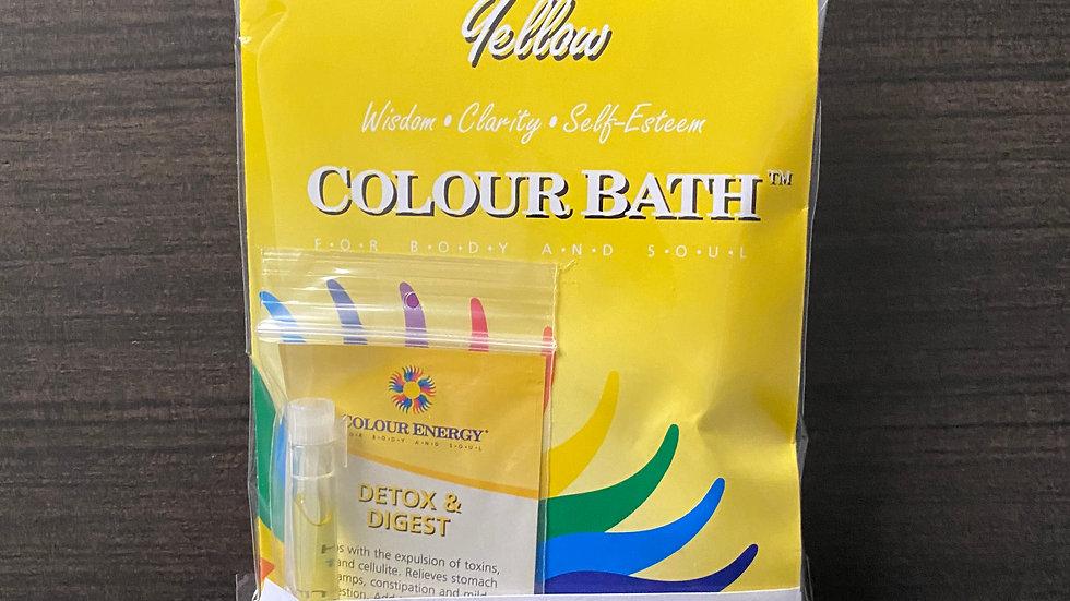 Yellow Colour Bath Spa Kit