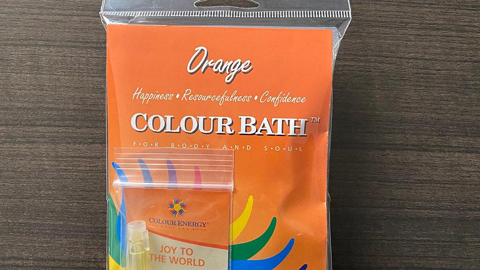 Orange Colour Bath Spa Kit