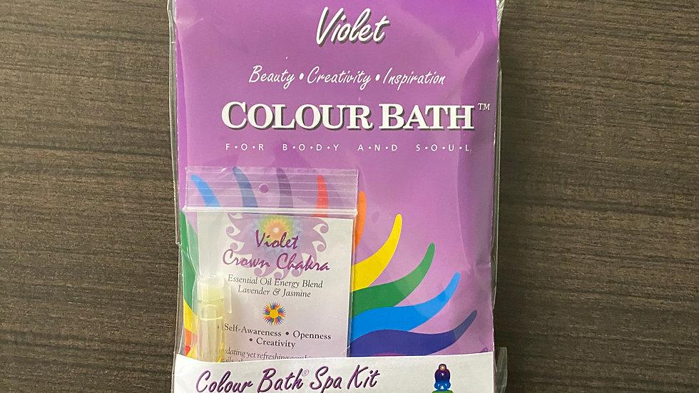 Violet Colour Bath Spa Kit