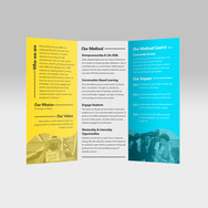 Another Brochure design created for AMG's nonprofit division