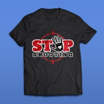 Stop Shooting T-Shirt Design