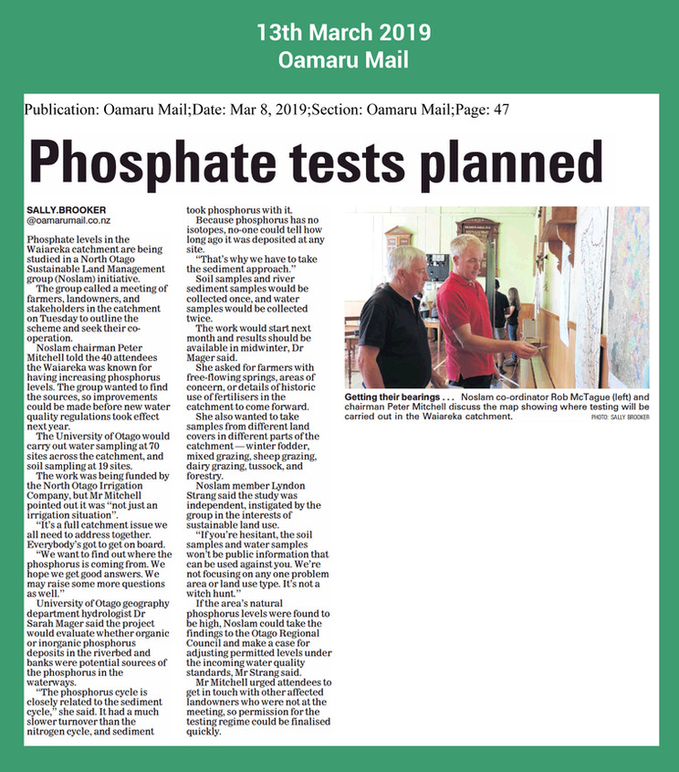 Posphate source to be investigated oamar