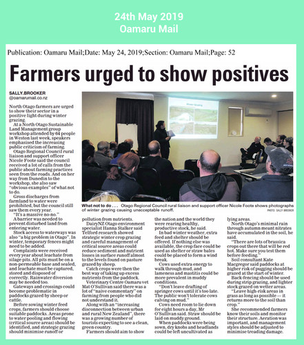 winter grazing farmers urged to see posi